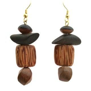 Artistic Wood Earrings