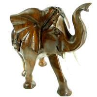Lucky Parade Elephant Hand Carved Statue