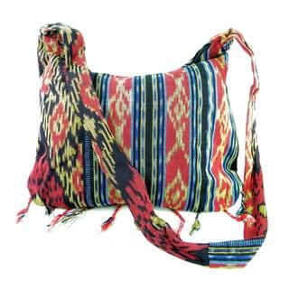 Woven Cross Body Messenger Style Cotton Bag