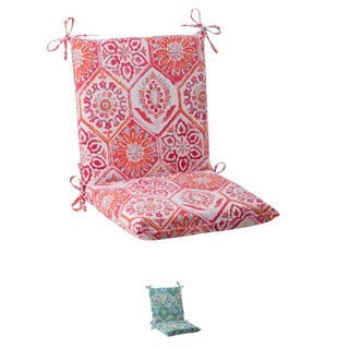 Pillow Perfect 'Summer Breeze' Outdoor Squared Chair Cushion