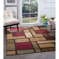 Alise Flora Contemporary Multi Area Rug (7'10 x 10'3) - 7'10 x 10'3