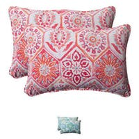 Pillow Perfect 'Summer Breeze' Oversized Rectangular Outdoor Throw Pillows (Set of 2)