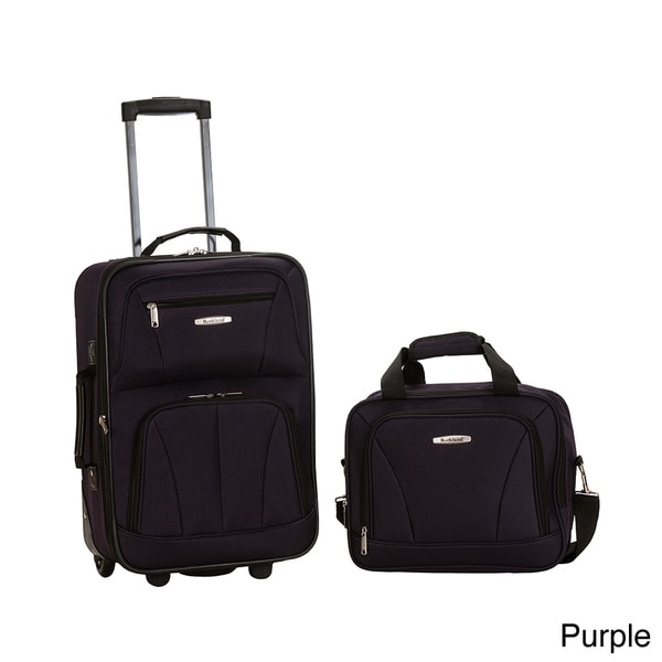 Rockland New Generation 2-Piece Lightweight Carry-On Softsided ...