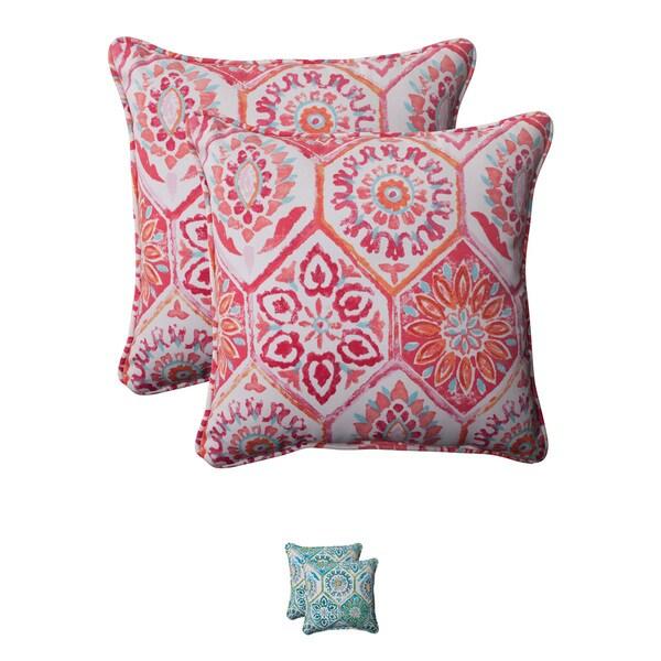 Pillow Perfect 'Summer Breeze' Outdoor Corded Throw Pillows (Set of 2)