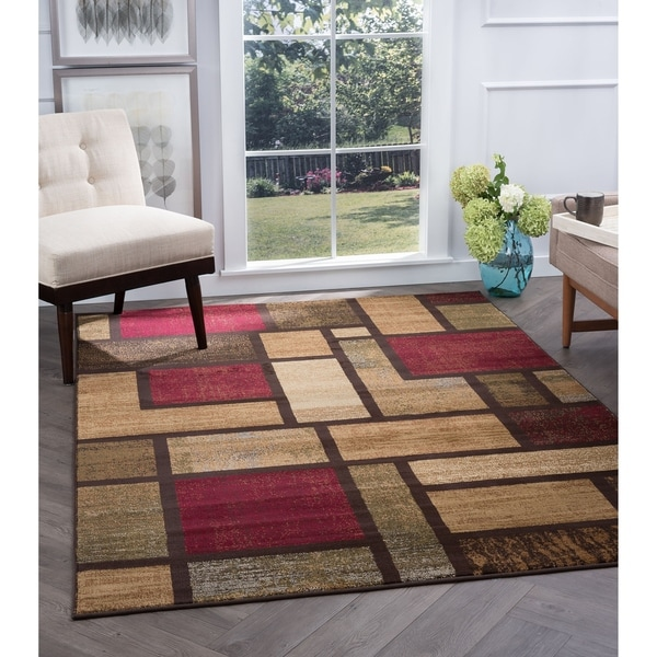 Alise Flora Contemporary Multi Area Rug - 5'3 x 7'3