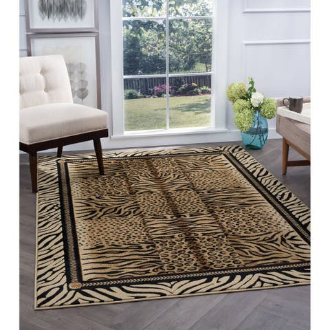 Alise Rugs Flora Contemporary Animal Area Rug