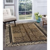 Alise Rugs Flora Contemporary Animal Area Rug - 5'3 x 7'3