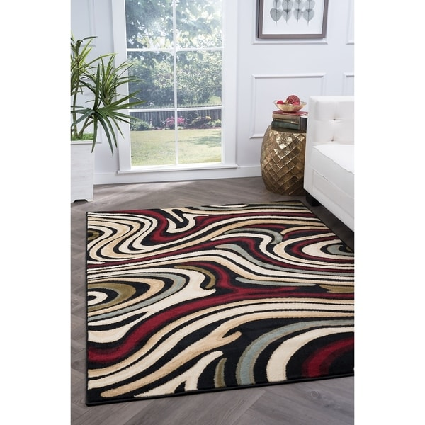 Alise Lagoon Contemporary Area Rug - 5' x 7'