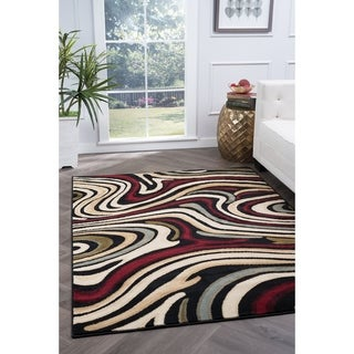 Alise Lagoon Contemporary Area Rug (5' x 7')