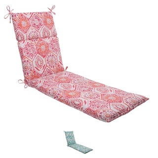 Pillow Perfect 'Summer Breeze' Outdoor Chaise Lounge Cushion