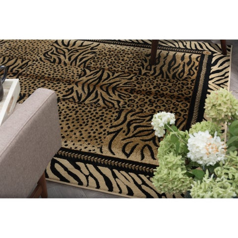 Alise Rugs Flora Contemporary Animal Area Rug - 7'10 x 10'3