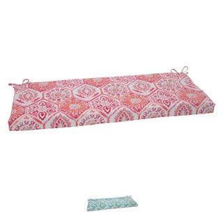 Pillow Perfect 'Summer Breeze' Outdoor Bench Cushion