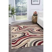Alise Rugs Lagoon Contemporary Abstract Area Rug - multi - 7'6 x 9'10