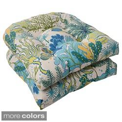 pillow perfect u0027splish splashu0027 outdoor wicker seat cushions - Patio Chair Cushions Clearance