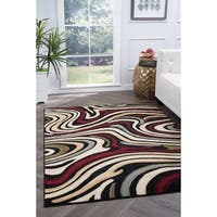 Alise Rugs Lagoon Contemporary Abstract Area Rug - 7'6 x 9'10