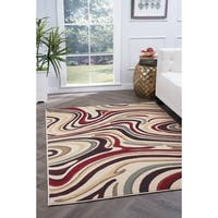 Alise Lagoon Multi Contemporary Area Rug - 5' x 7'