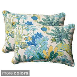 Pillow Perfect 'Splish Splash' Outdoor Oversized Throw Pillows (Set of 2)