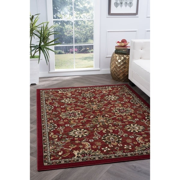 Alise Rugs Lagoon Transitional Oriental Area Rug - 5' x 7'
