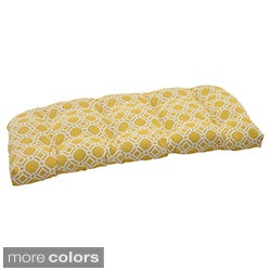 Pillow Perfect 'Rossmere' Outdoor Wicker Loveseat Cushion