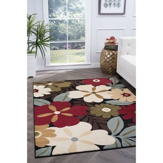 Alise Rugs Lagoon Contemporary Floral Area Rug - 7'6 x 9'10