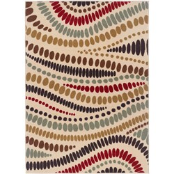 Alise Lagoon Contemporary Beige Area Rug (5' x 7')