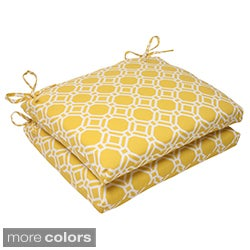 Pillow Perfect 'Rossmere' Outdoor Squared Seat Cushions (Set of 2)