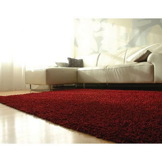 Jani Modern EcoShag Scarlet Red Rug (5' x 8')