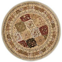 "Safavieh Lyndhurst Traditional Oriental Grey/ Multicolored Rug - 5'3"" x 5'3"" Round"