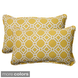 Pillow Perfect 'Rossmere' Outdoor Corded Throw Pillows (Set of 2)