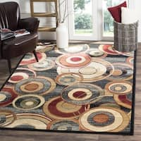 Safavieh Lyndhurst Contemporary Grey/ Multicolored Rug - 5' x 5' square