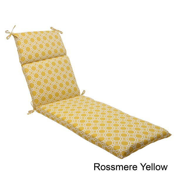 Pillow Perfect 'Rossmere' Outdoor Chaise Lounge Cushion