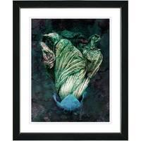Studio Works Modern 'Green Flower Bud' Framed Print
