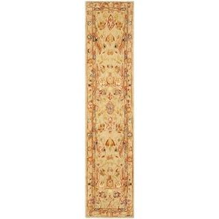 Safavieh Handmade Anatolia Oriental Ivory Hand-spun Wool Rug (2'3 x 12')