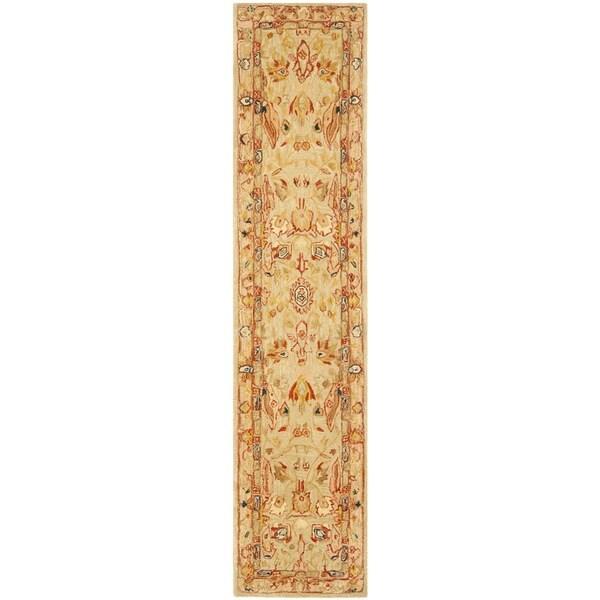 "Safavieh Handmade Anatolia Oriental Ivory Hand-spun Wool Rug - 2'3"" x 12'"