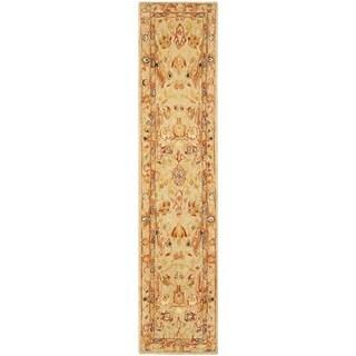Safavieh Handmade Anatolia Oriental Ivory Hand-spun Wool Rug (2'3 x 8')