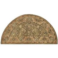 Safavieh Handmade Antiquities Kasadan Olive Green Wool Rug (2'6 x 5' Hearth)