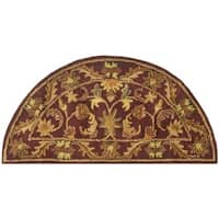 Safavieh Handmade Exquisite Wine/ Gold Wool Rug - 2' x 4' hearth