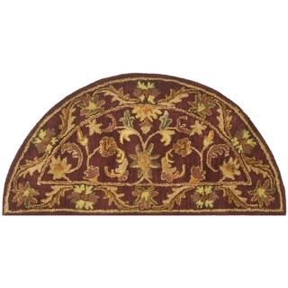 Safavieh Handmade Exquisite Wine/ Gold Wool Rug (2' x 4' Hearth)