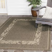 Safavieh Beachview Brown/ Natural Indoor/ Outdoor Rug - 7' Square