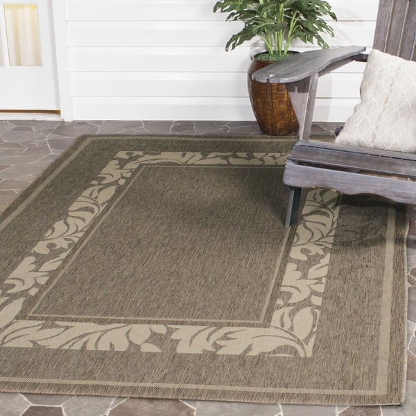 Indoor Outdoor Rugs Square: Shop Safavieh Beachview Brown/ Natural Indoor/ Outdoor Rug