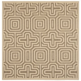 Safavieh Matrix Natural/ Brown Indoor/ Outdoor Rug (6'7 Square)