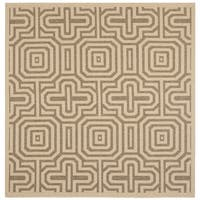 Safavieh Matrix Natural/ Brown Indoor/ Outdoor Rug - 6'7 Square