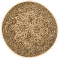 Safavieh Hand-knotted Heritage Beige/ Green Wool Rug - 8' Round