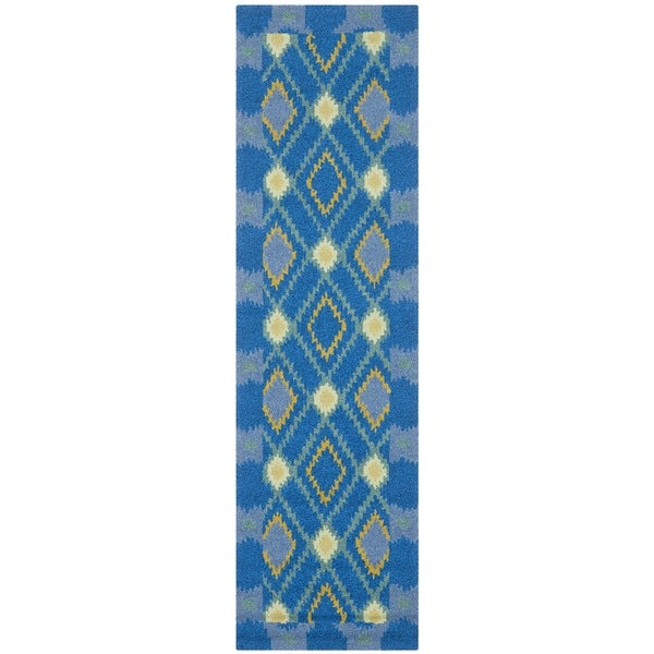 Safavieh Hand-Hooked Four Seasons Indigo Polyester Rug (2' x 6')