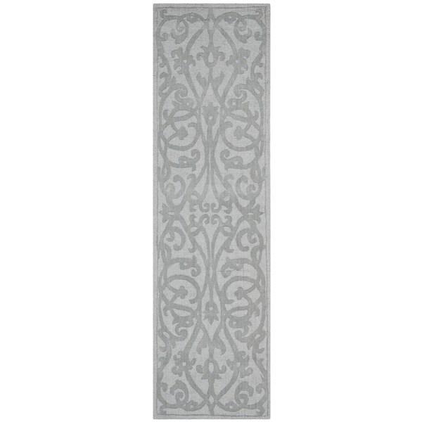 Safavieh Handmade Irongate Grey New Zealand Wool Rug (2'3 x 12')