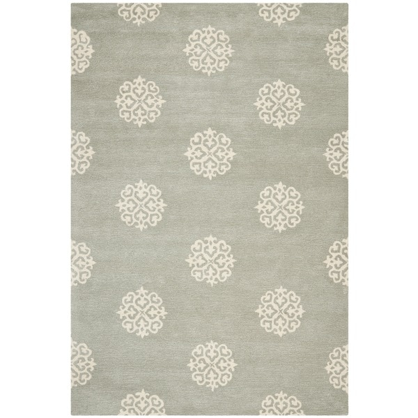 Safavieh Handmade Soho Grey/ Ivory New Zealand Wool Rug - 6' x 9'