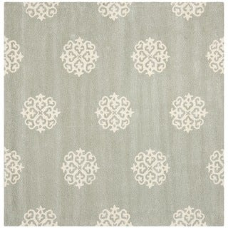 Safavieh Handmade Soho Grey/ Ivory New Zealand Wool Rug (8' Square)