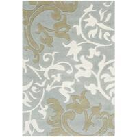 Safavieh Handmade Silhouettes Blue/Grey New Zealand Wool Rug - 2' x 3'