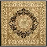 Safavieh Lyndhurst Traditional Oriental Black/ Ivory Rug - 8' Square
