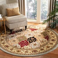 Safavieh Lyndhurst Traditional Oriental Grey/ Multicolored Rug - 6' x 6' Round